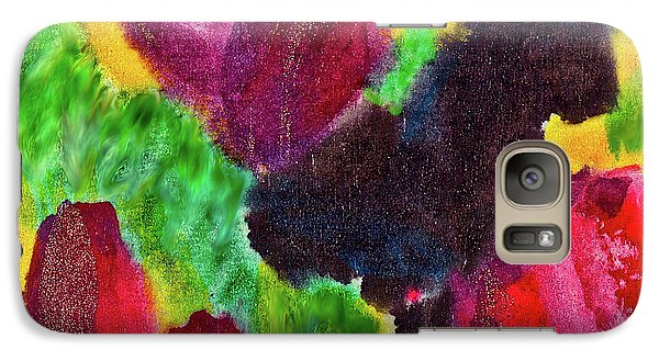 Galaxy Case featuring the painting Dancing Flowers by Joan Reese