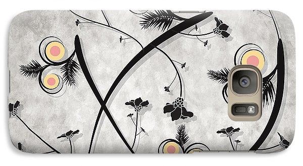 Galaxy Case featuring the digital art Dancing Flowers by Milena Ilieva