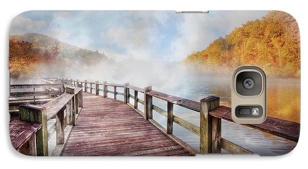 Galaxy Case featuring the photograph Dancing Fog At The Lake by Debra and Dave Vanderlaan
