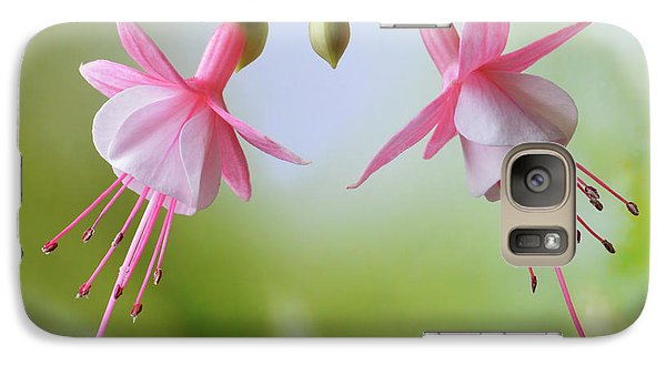 Galaxy Case featuring the photograph Dancing Fuchsia by Terence Davis