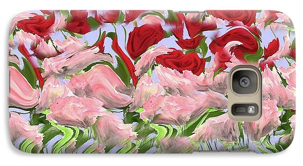 Galaxy Case featuring the painting Dancing In The Garden by David Dehner