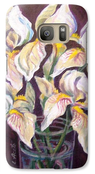 Galaxy Case featuring the painting Dancing Iris by Laura Aceto