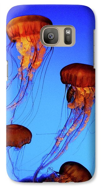 Galaxy Case featuring the photograph Dancing Jellyfish by Anthony Jones