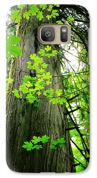 Galaxy Case featuring the photograph Dancing Leaves by Kathy Bassett