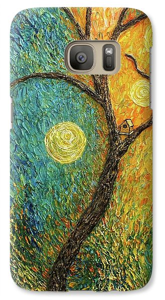 Galaxy Case featuring the painting Dancing Leves by Jane Chesnut