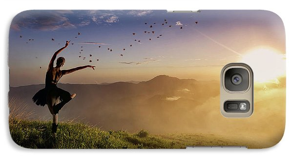 Galaxy Case featuring the photograph Dancing On The Edge Of Time by Debby Herold