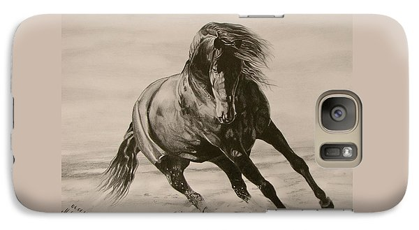 Galaxy Case featuring the drawing Dancing Pace by Melita Safran