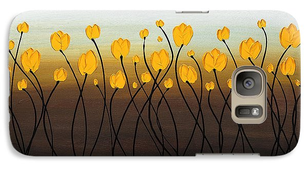 Galaxy Case featuring the painting Dancing Tulips by Carmen Guedez
