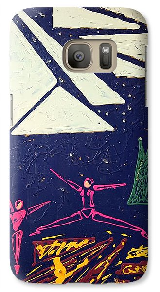 Galaxy Case featuring the mixed media Dancing Under The Starry Skies by J R Seymour