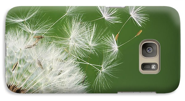 Galaxy Case featuring the photograph Dandelion Blowing by Bess Hamiti