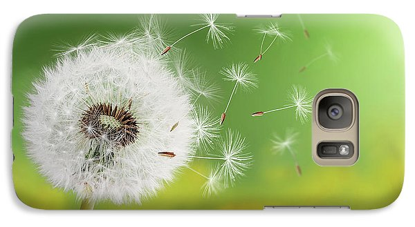 Galaxy Case featuring the photograph Dandelion Clock In Morning by Bess Hamiti