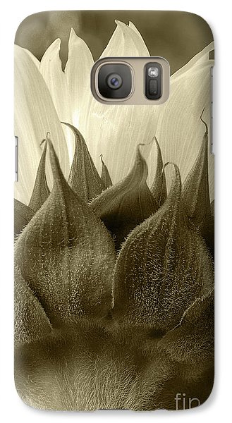 Galaxy Case featuring the photograph Dandelion In Sepia by Micah May