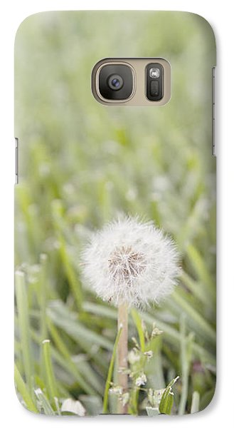 Galaxy Case featuring the photograph Dandelion In The Grass by Cindy Garber Iverson