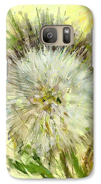 Galaxy Case featuring the drawing Dandelion Sunshower by Desline Vitto