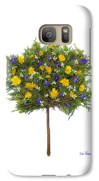 Galaxy Case featuring the photograph Dandelion Violet Tree by Lise Winne