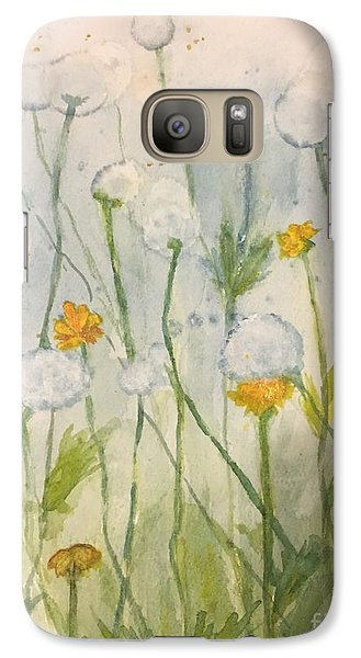 Galaxy Case featuring the painting Dandelions by Lucia Grilletto