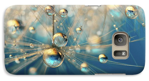 Galaxy Case featuring the photograph Dandy Drops In Royal Blue by Sharon Johnstone