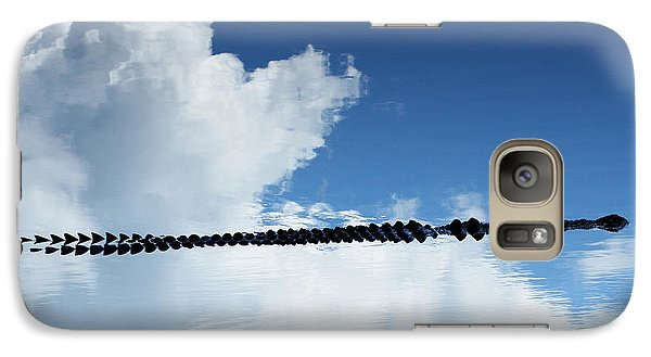 Galaxy Case featuring the photograph Dangerous Reflection Saltwater Crocodile 2 by Gary Crockett
