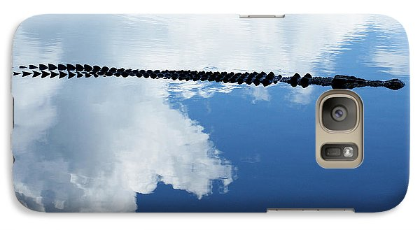 Galaxy Case featuring the photograph Dangerous Reflection Saltwater Crocodile by Gary Crockett