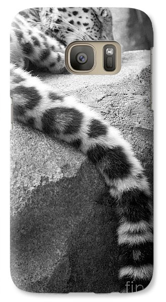 Galaxy Case featuring the photograph Dangling And Dozing In Black And White by Mary Mikawoz
