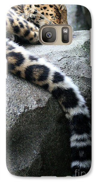 Galaxy Case featuring the photograph Dangling And Dozing by Mary Mikawoz