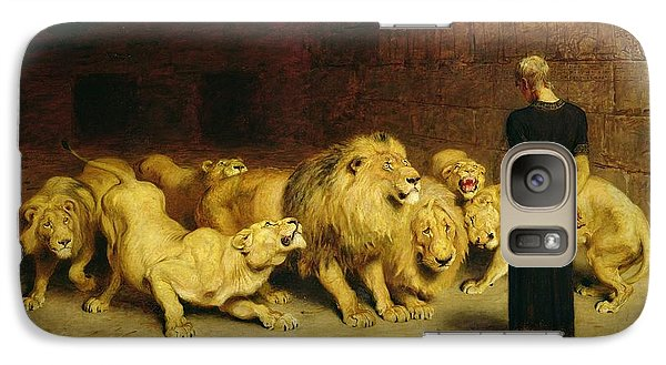 Fantasy Galaxy S7 Case - Daniel In The Lions Den by Briton Riviere