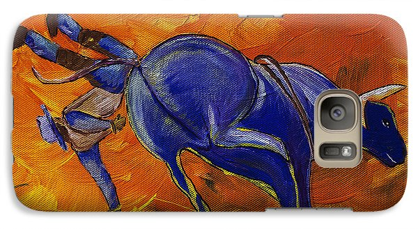 Galaxy Case featuring the painting Danny At The Rodeo by Janice Rae Pariza