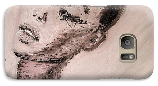 Galaxy Case featuring the painting Dante's Prayer by Jarmo Korhonen aka Jarko