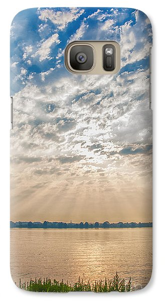 Galaxy Case featuring the mixed media Dappled Dawn by Terry Rowe