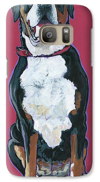 Galaxy Case featuring the painting Darby by Nadi Spencer
