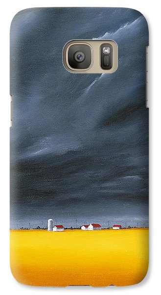 Galaxy Case featuring the painting Dark And Stormy by Jo Appleby