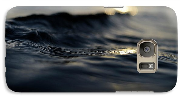 Galaxy Case featuring the photograph Dark Atlantic Traces by Laura Fasulo