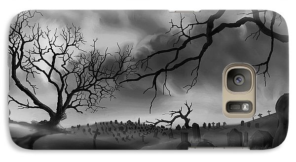 Galaxy Case featuring the painting Dark Cemetary by James Christopher Hill
