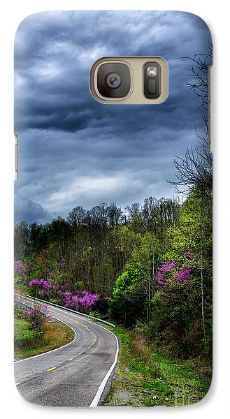 Galaxy Case featuring the photograph Dark Clouds Over Redbud Highway by Thomas R Fletcher