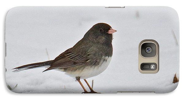 Galaxy Case featuring the photograph Dark-eyed Junco 1217 by Michael Peychich