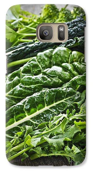 Dark Green Leafy Vegetables Galaxy Case by Elena Elisseeva