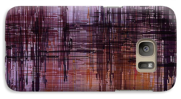Galaxy Case featuring the painting Dark Lines Abstract And Minimalist Painting by Ayse Deniz