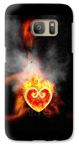 Galaxy Case featuring the painting Dark Night Of The Soul by Robby Donaghey