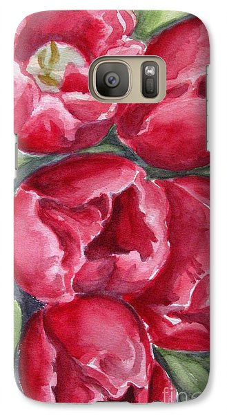 Galaxy Case featuring the painting Dark Red by Inese Poga
