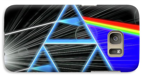 Galaxy Case featuring the digital art Dark Side Of The Moon by Dan Sproul
