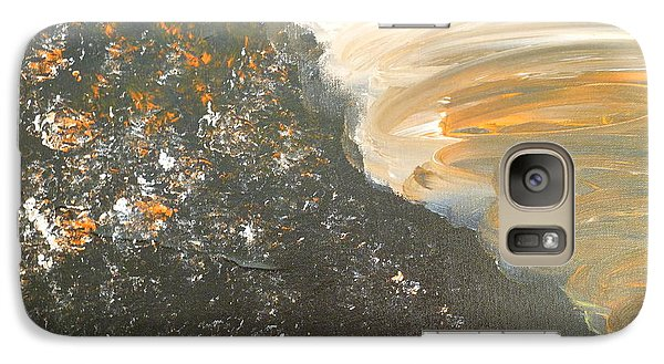 Galaxy Case featuring the painting Dark Storm by Barbara Yearty