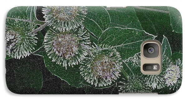 Galaxy Case featuring the photograph Dark Thistles by Kathie Chicoine