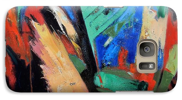 Galaxy Case featuring the painting Darkness And Light by Gary Coleman