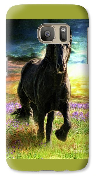 Galaxy Case featuring the digital art  Darkness Descending by Trudi Simmonds