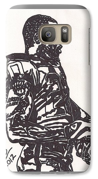 Galaxy Case featuring the drawing Darren Mcfadden 1 by Jeremiah Colley