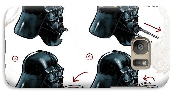 Galaxy Case featuring the digital art Darth Vader Tea Drinking Star Wars by Martin Davey