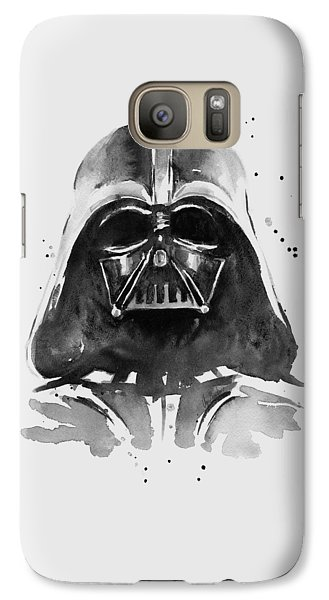 Portraits Galaxy S7 Case - Darth Vader Watercolor by Olga Shvartsur