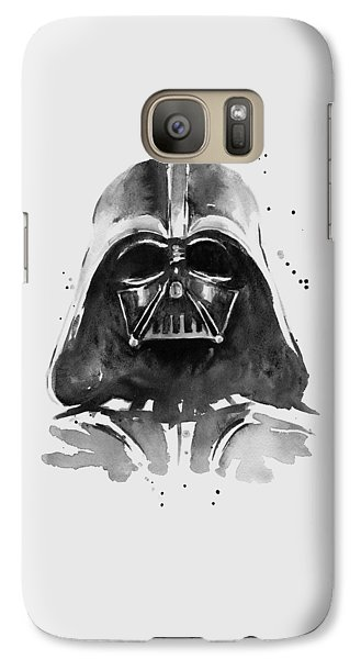 Darth Vader Watercolor Galaxy S7 Case by Olga Shvartsur
