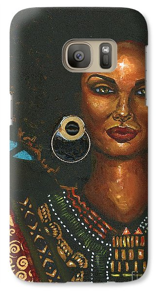 Galaxy Case featuring the painting Dashiki by Alga Washington