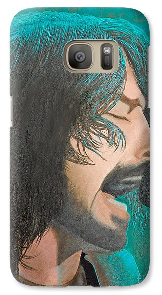 Galaxy Case featuring the painting Dave Grohl Of The Foo Fighters by Cindy Lee Longhini